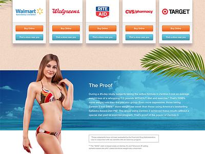 Zantrex 3 Marketing Page lander marketing loss weight