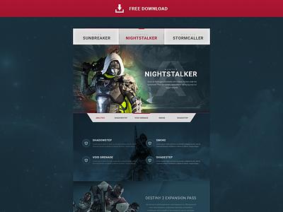 Destiny Freebie [FREE DOWNLOAD] titan hunter expansion nightstalker warlock dark ui destiny