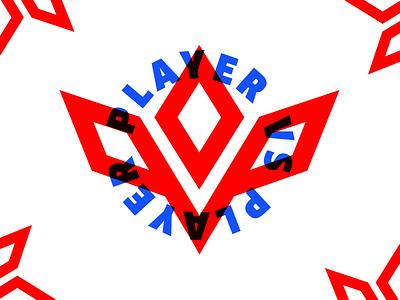 PVP Logo multiply blue red logo vs player pvp
