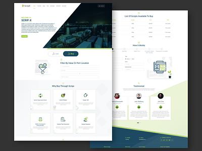 ScripX buy landingpage website design import design web ux ui design