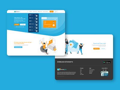 estock website design landingpage web ux ui design
