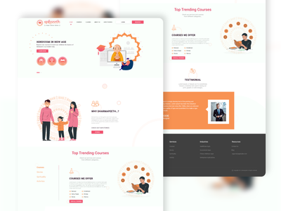 Dharmapeeth website design landingpage web ux ui design