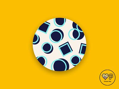 Offset Circle and Square pattern illustration pattern figma