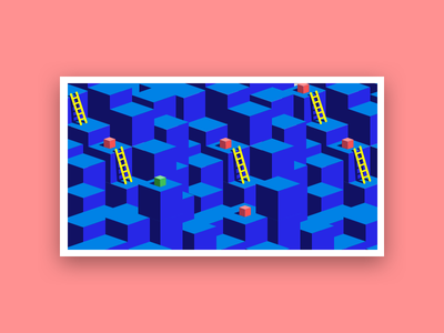 Patterns Day 06 30daychallenge ladders illustration isometric patterns