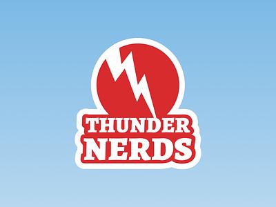 Revision on Thunder Nerds Logo thundernerds podcast figma vector illustration logo