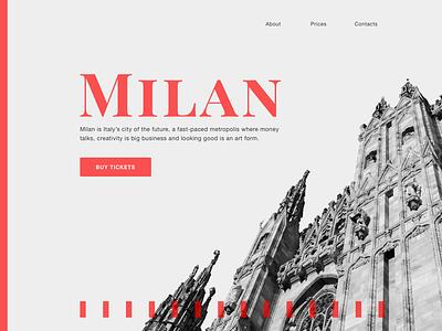Milan milan landingpage photoshop sketchapp