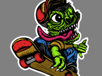 Hang loos skate monster