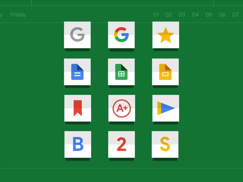 Back to School: Education Icons google education school illustrations icons simple logo illustrator branding illustration vector