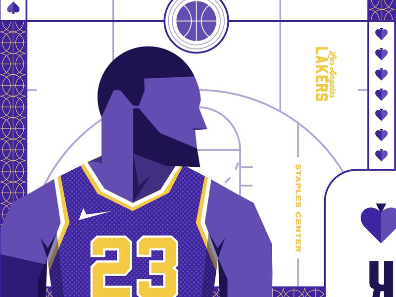 The Royal Court: LA Lakers Cards sports nba la lebron kobe basketball losangeles lakers playingcards cards typography illustrations print logo illustrator branding illustration vector