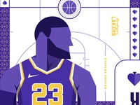 The Royal Court: LA Lakers Cards sports nba la lebron kobe basketball losangeles lakers playingcards cards typography illustrations print logo illustrator branding illustration vector