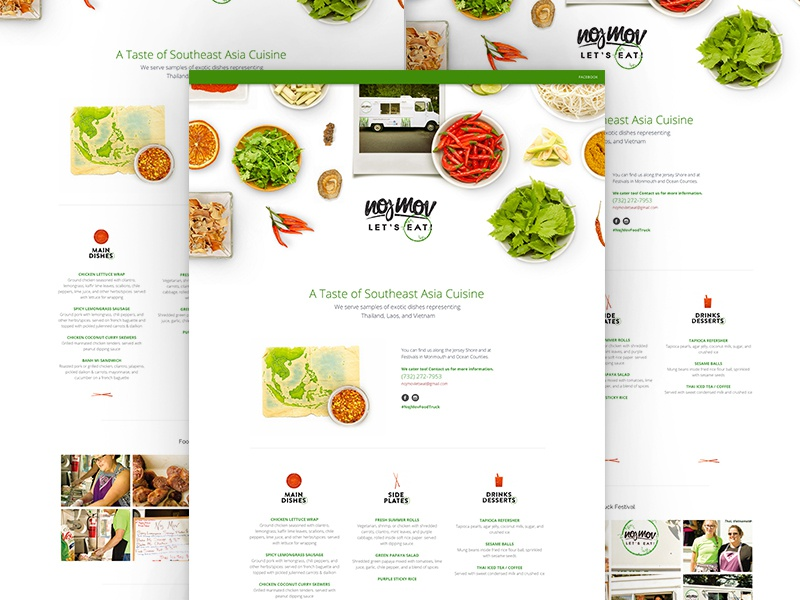 Noj Mov - A Taste of Southeast Asia cuisine asian food homepage design site ux ui branding website web design