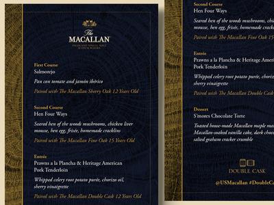 Macallan Double Cask Menu