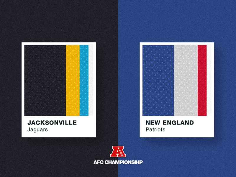 Jersey Chips Series: Championship Matchups nfl textures sports patterns pantone jerseys hue football color