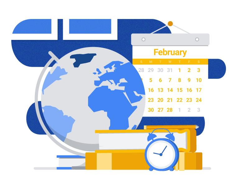 Educational Tips color globe calendar books education google vector illustrator illustration