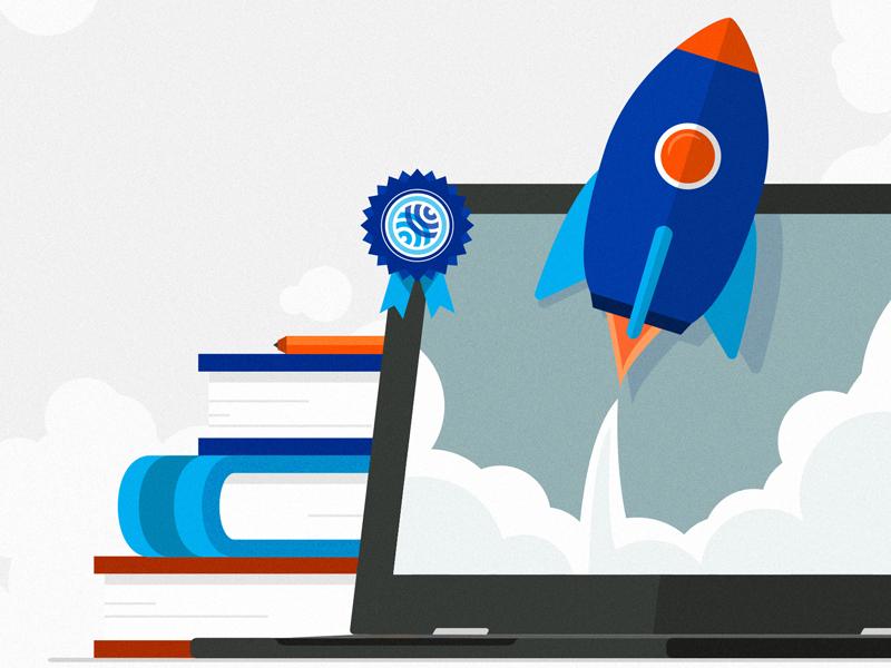 Success, Failure, and the Path Forward learn rocket education visual vector illustration