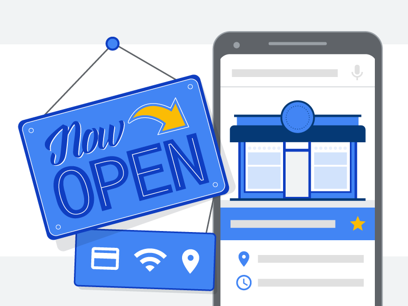 Connecting Small Businesses vector simple infographic info illustrator illustrations connect businesses open sign