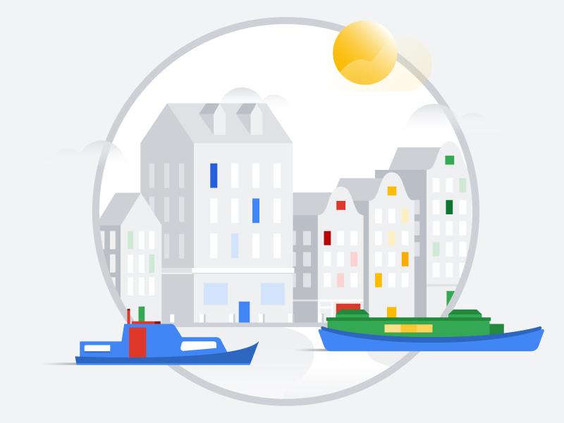 Amsterdam gray colors simple vector illustrator illustration city