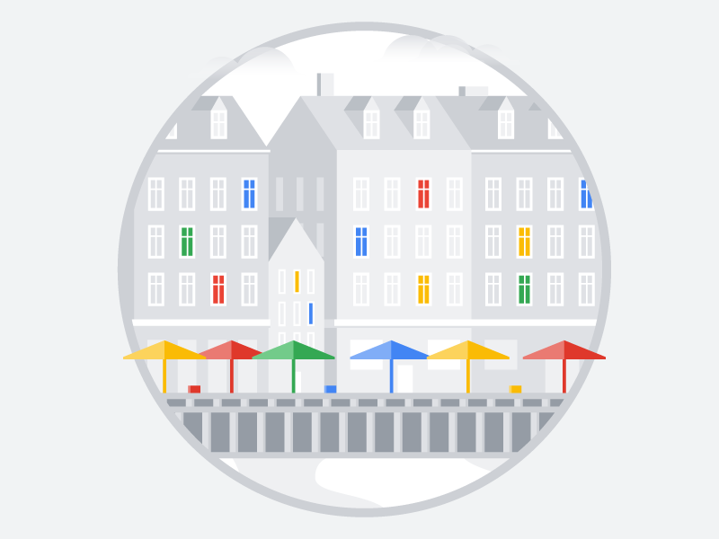 Copenhagen gray colors simple vector illustrator illustration city