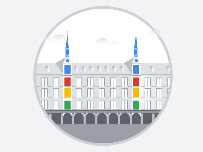 Madrid vector simple illustrator illustration gray colors city