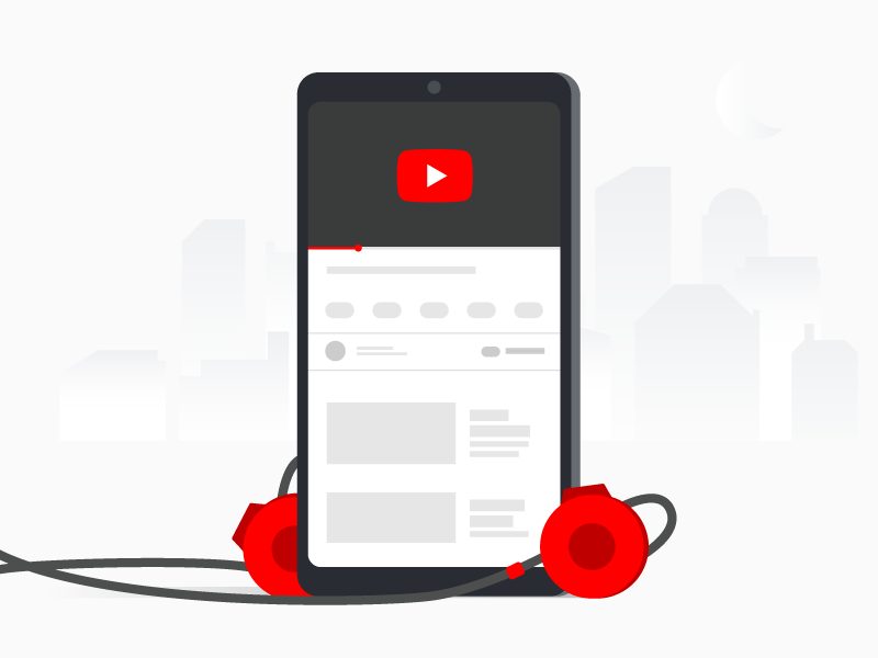 Hooked on Youtube video headphones mobile illustrator illustration youtube