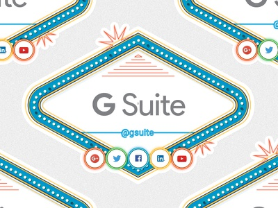G Suite Stickers lights social media vegas google gsuite print stickers