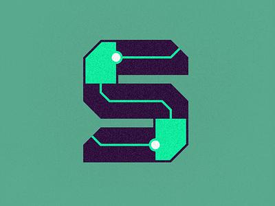 Sine Data Logo illustration type typography s identity branding vector tech logo