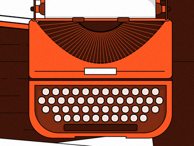 Author Day paper typewriter author vector illustrator illustrations