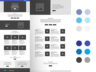 Podcast Website Wireframe site digital ui uiux colors color palette wireframe web design web website