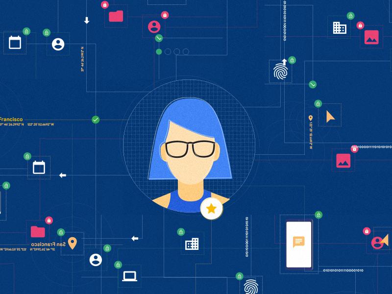 Employee Network developer digital work network employee illustrator illustration