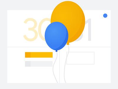 Classroom: Calendar google classroom illustrator balloons illustration edu education calendar