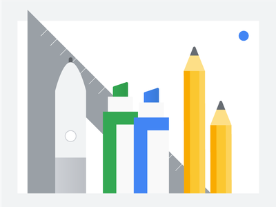 Classroom: Tools markers pencils school learning illustration education classroom