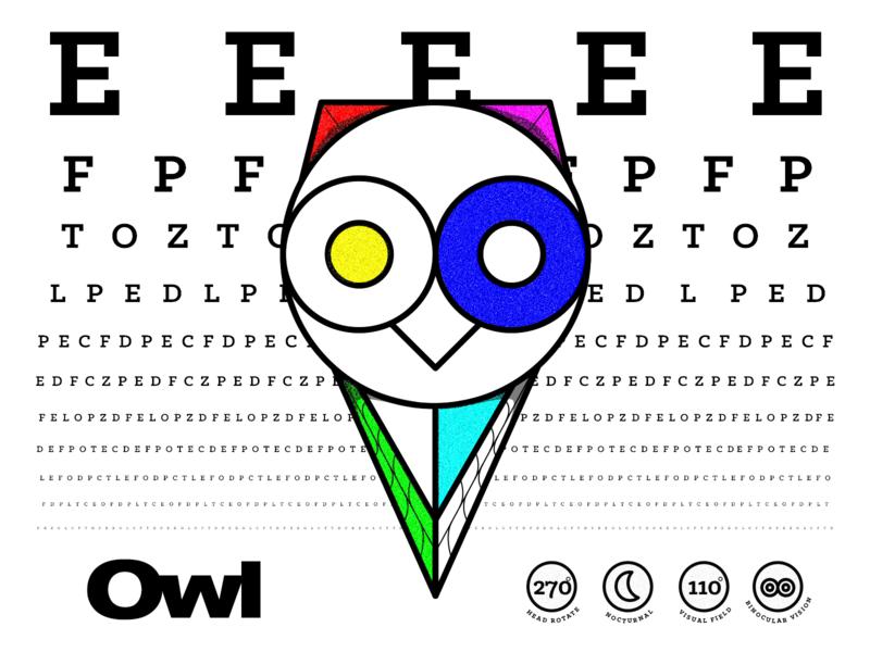 20/20: Owl eyes vision rgb owl animals typography illustrator logo branding illustration vector