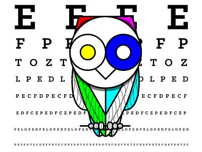 20/20: Owl eyes typography owl vision animals illustrator logo branding illustration vector