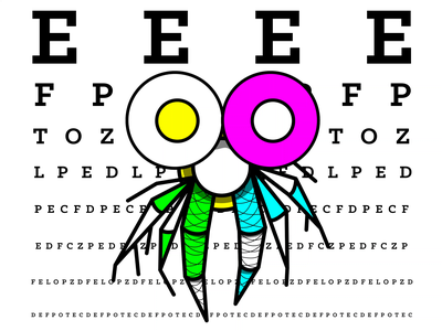 20/20: Shrimp eyes animals shrimp illustrations illustrator logo branding illustration vector