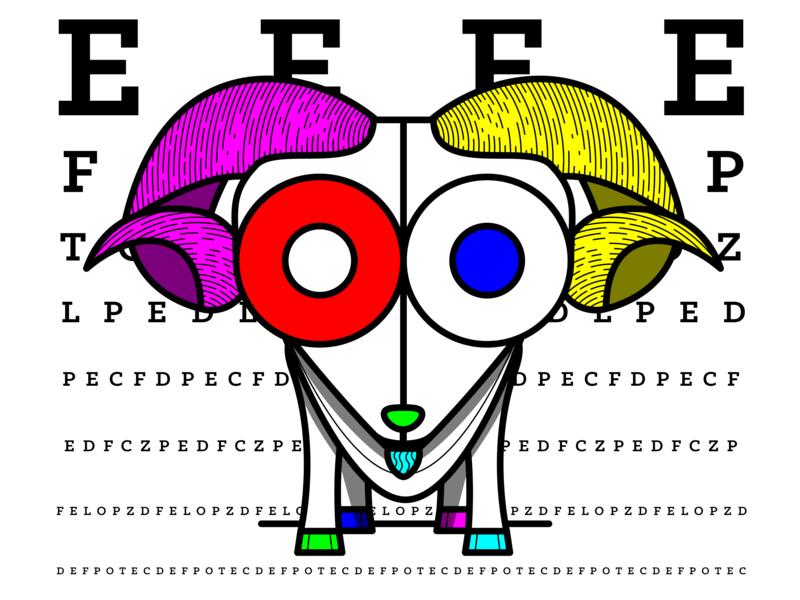 20/20: Goat goat animals typography identity illustrator logo branding illustration vector