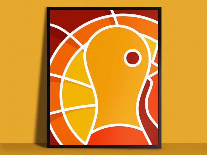 Thanksgiving Poster orange turkey holiday thanksgiving poster print simple illustrator illustration vector
