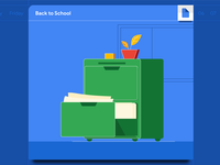 Back to School: Cabinet Illustration