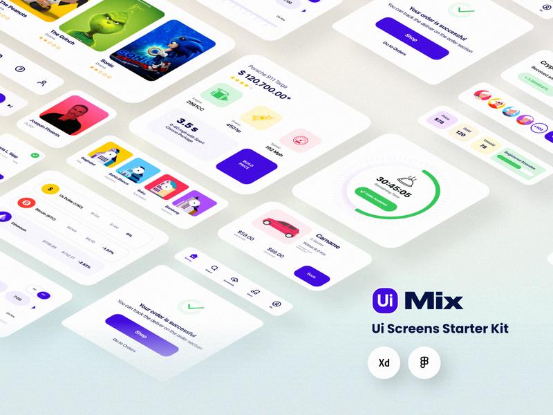 Ui Mix Ui Kit dailui illustraion ux android ios app vector ux design ui kit ui design trendy sketch multipurpose minimal iphone x ios ecommerce design dashboard