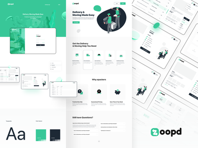 Zoopd Web App transportation transport storage retina responsive relocation packers moving movers modern logistics house move courier company courier cargo