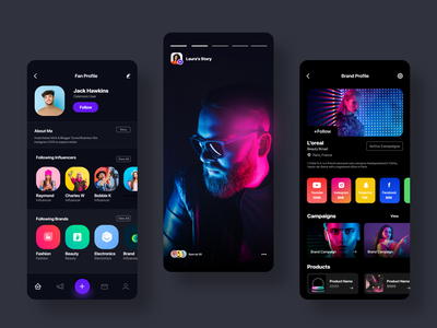 Influencer app ui ux minimal youtube influencers vlogging influencers video vlogger portfolio designer portfolio personal portfolio instagram influencers influencers portfolio influencers football player influencers fashion influencers facebook influencers