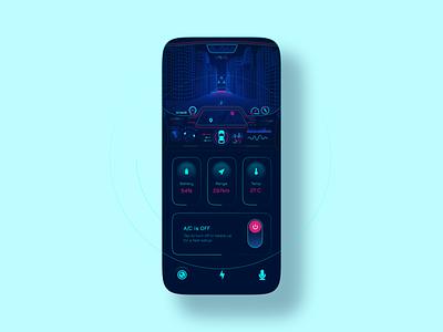 Car Dashboard UI ui ux interface app design ios mobile car vehicle controls dashboard driving assistant