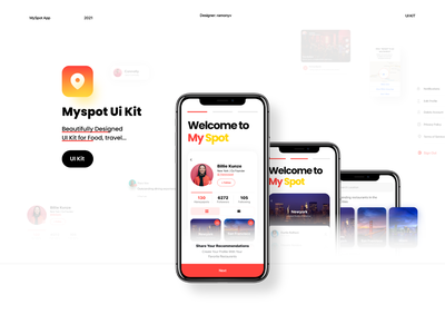 My Spot Dribble Shot ui ux ios app social network social traveling travel tour store review psd template psd itinerary holiday food e-commerce city blog