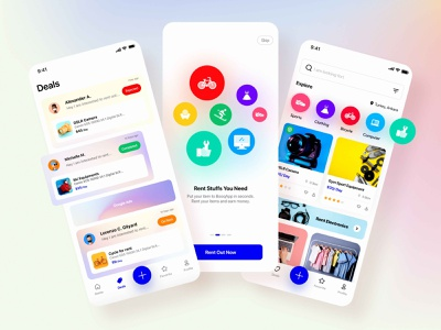 Booq App ui ux design ios app mobile rental booking home