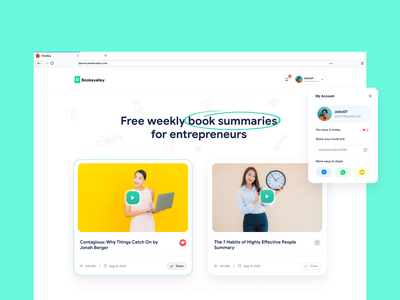 Booksvalley Website scheduling entrepreneur books vector branding logo web minimal ux ui illustration design app