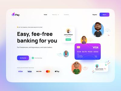 Banking Web App ( AVATARZ 3D Library) character design team 3dlibrary logo app banking ux ui cute illustration avatarz 3d