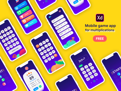 Mobile game app for multiplications