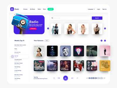 Music Web App songwriter singer record label producer performer musician music record music band music live music event entertainment dj audio artist