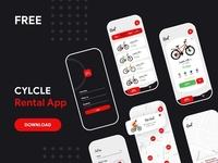 Cycle Rental App Ui Freebie