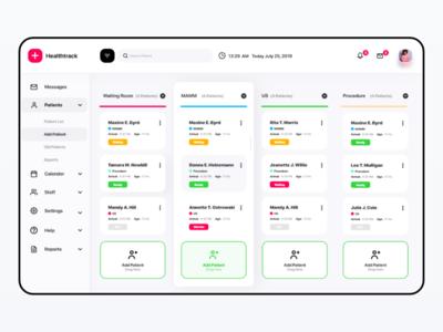 Healthtrack Desktop App medical design saas ui-ux medicalcare medical hospital care healthcare app health doctor design dashboard