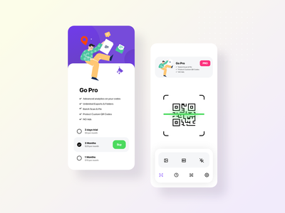 QR Code Scanner App startup responsive mobile app marketing iphone app game business application animation android app ilustration app design app qrcode qr code